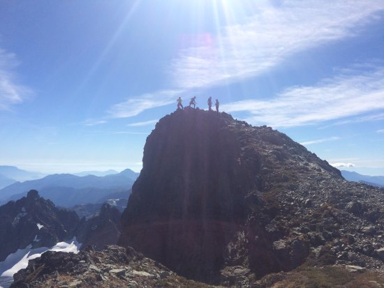 Squamish, Kanada: Summit of Serratus Mountain, Tantalus Range BC