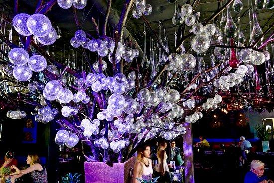 Tubac, AZ: glass balls / tree