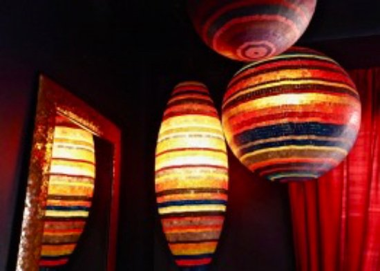 Tubac, AZ: glowing lamps