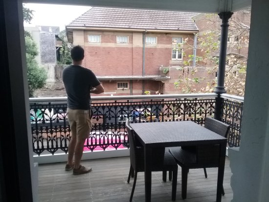 The Grand Hotel Newcastle: Room 4 balcony