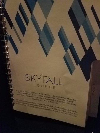 Skyfall menu cover