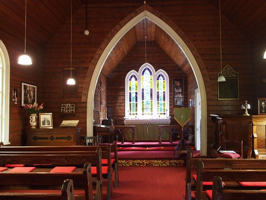 Waratah, Australie : Church Gallery interior. This was an  Anglican church & opened in 1880.