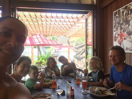 Warung Blanjong : We had a yummy lunch with 6 kids, everyone enjoyed their meals, the staff were super attentive a