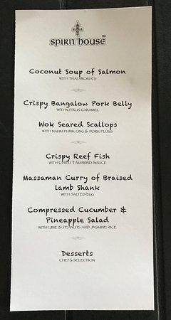 Yandina, Australia: 6 Course Banquet Menu