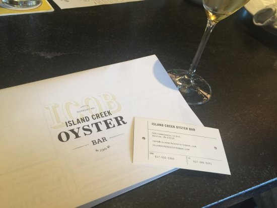 Island Creek Oyster Bar: Awesome dining experience!