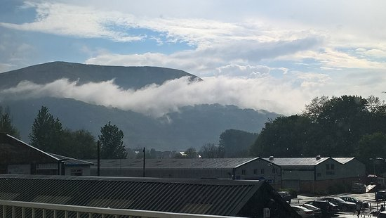 Abergavenny, UK : The view from our room.