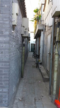 The Orchid Hotel: 酒店要經過這條小巷,才見到入口