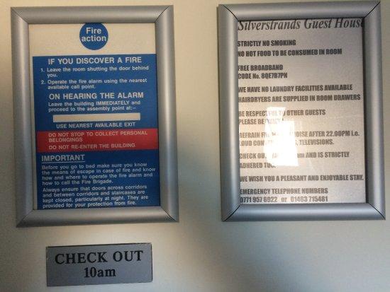 Silverstrands Guest House: reglement, avec 10h en rappel 2 fois