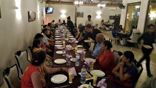Curepipe: We were easily accommodated in the spacious hall.