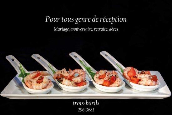 Restaurant Bar Les Trois Barils: Salsa de mangues au crevettes