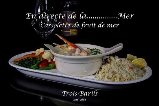 Restaurant Bar Les Trois Barils: Cassolette de fruits de mer
