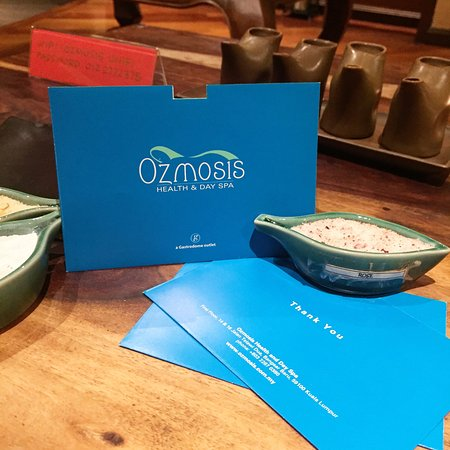 ozmosis spa certificate give more than a  t give an
