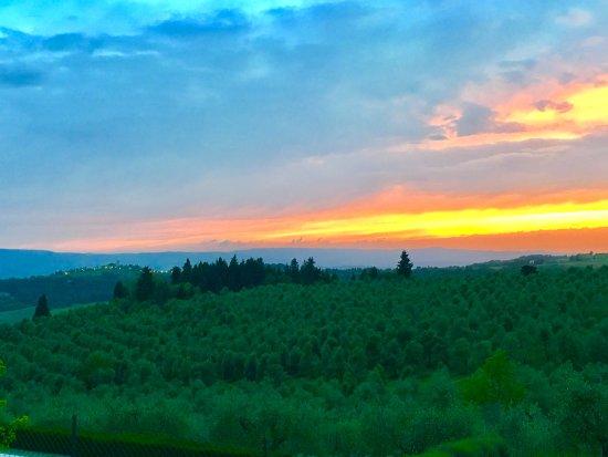Torre di Ponzano - Chianti area - Tuscany -: Panorama sulla vallata con i paesini