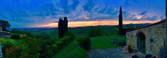 Torre di Ponzano - Chianti area - Tuscany -: Torre di Ponzano al tramonto