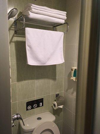 shower on the left side