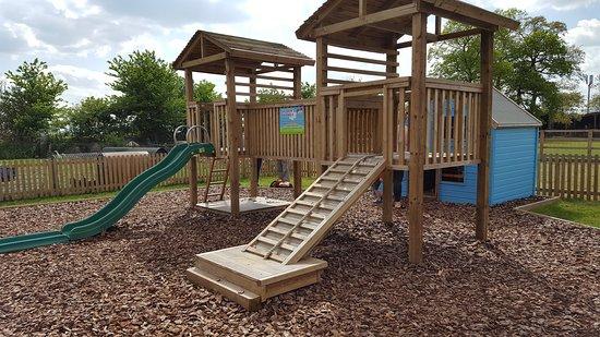 Burnham, UK: Children's play area at Hitcham Dairy