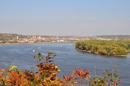 Mines of Spain Recreation Area: View of Dubuque