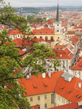 Martin Svasek - Private Tours in Prague : View from walkway leaving area of Prague Castle