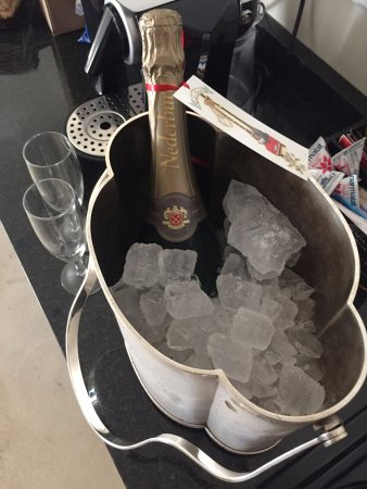 Rouge on Rose: Complimentary bottle of champagne for our honeymoon