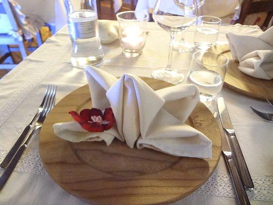 Donnas, Włochy: il nostro tavolo