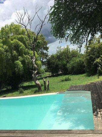 A lush oasis on the mighty Zambezi