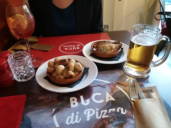 Dough Balls And Mini Calzoneslargejpg Picture Of Buca Di