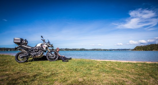 Paradise Motorcycle Day Tours: Admiring the view - Paihia, Bay Of Islands
