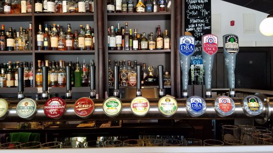 Terrassen: Some of the many taps