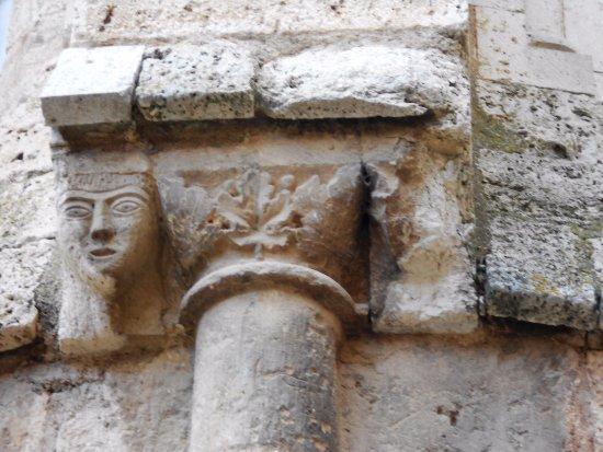 Daroca, España: Rostro humano románico