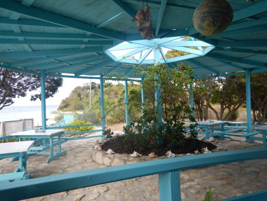 Long Bay, Antigua: part of the restaurant