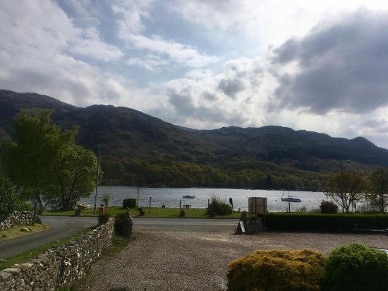 St Fillans, UK: view from terrace
