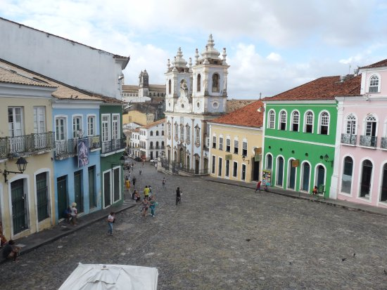 Hotel Casa do Amarelindo: square near the hotel, where Michael Jackson shot a video clip (They don't care about us)