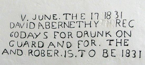 Ardersier, UK: Scritta nella prigione del forte