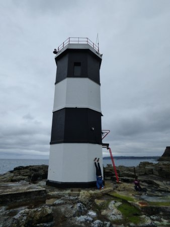 Rathlin Island, UK: Yoga at the Rue Point light house