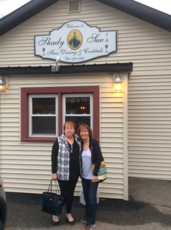 Rhinelander, Wisconsin: My cousin and I outside Shady Sue's