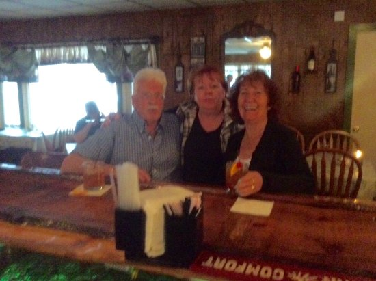 """Rhinelander, Wisconsin: My husband and I with my cousin enjoying our """"old fashioneds"""""""
