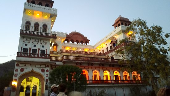 Malpura, India: Front of the Hotel at Dusk