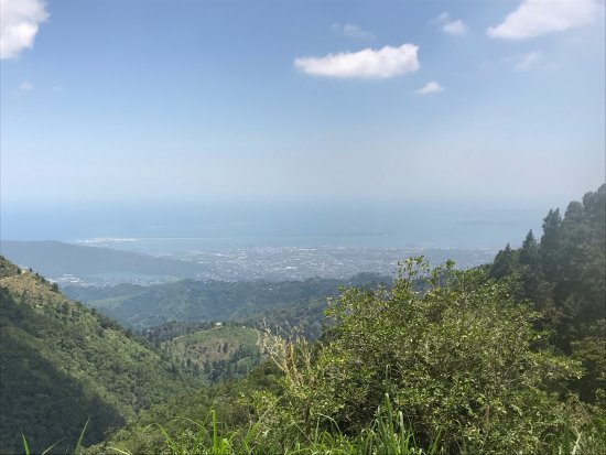 View from the top - looking down from the Blue Mountains of Jamaica