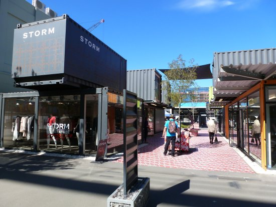 Christchurch Shopping Complex Of Shipping Containers