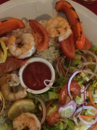 Rocklin, CA: Shrimp Kebab