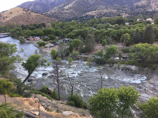 Kernville, CA: View from the outside patio.