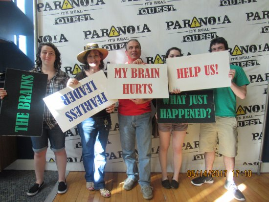 Paranoia Quest Thank You For Coming To Our Amazing Escape Room Experience At Downtown