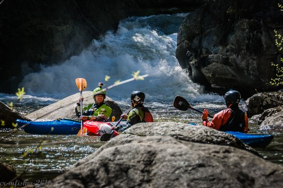 Flat Rock, Caroline du Nord : kayakers