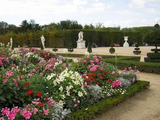 Versailles garden parterre with flowers and edge of for Jardin de versailles