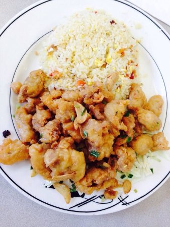 Golden Eagle: Garlic Chicken with Fried Rice