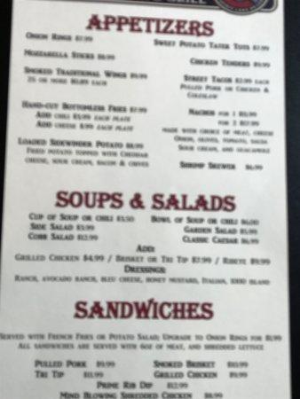 Spirit Lake, ID: The menu-2