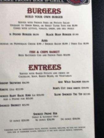 Spirit Lake, ID: The menu-3