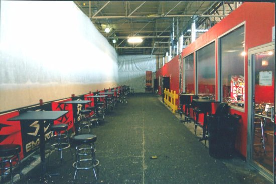 Melrose Park, IL: Inside CPX, Cafeteria to the Right