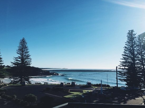 Yamba, Australia: View the morning we had to leave :-(