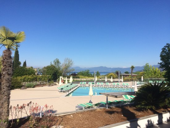 Blick über Poollandschaft Zum Gardasse Bild Von Parc Hotel Germano